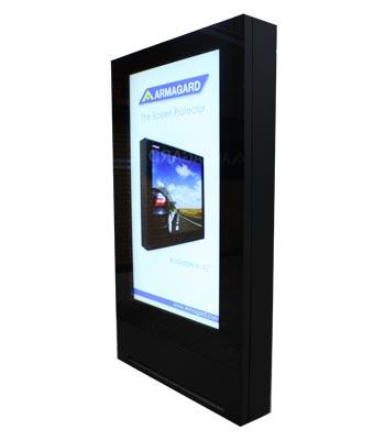 """72"""" monitory zewnętrzne outdoor totem widok z prawej"""