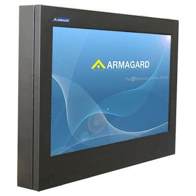 Cienka zewnętrzna obudowa do monitorów LED do ochrony monitora | Armagard Ltd