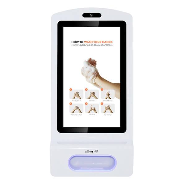 LCD ekran dozownik do dezynfekcji rąk - widok z przodu