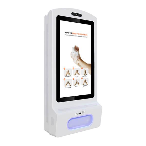 LCD ekran dozownik do dezynfekcji rąk - Widok z prawej