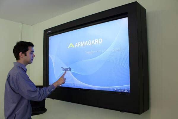 Obudowa monitora z ekranem widok z przodu