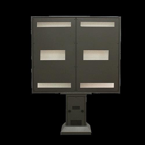Menu board panele zewnętrzne Widok z tyłu