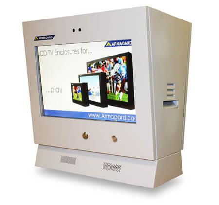 Monitor reklamowy dystrybutor paliwa widok z prawej