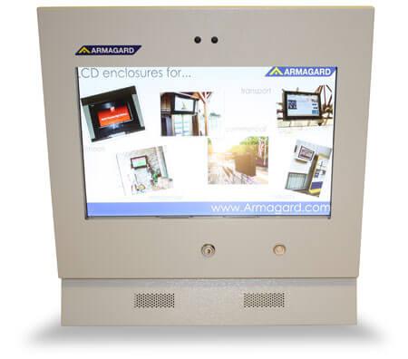 Monitor reklamowy dystrybutor paliwa widok z przodu