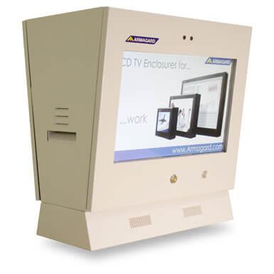 Monitor reklamowy dystrybutor paliwa | Obudowa IP54 PDP-22-L-240V monitor reklamowy dystrybutor paliwa z zintegrowany czujnikiem ruchu | Armagard Ltd