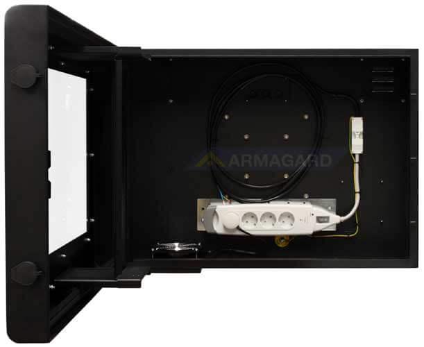 Monitor zewnetrzny - widok z otwartymi przednimi drzwiami