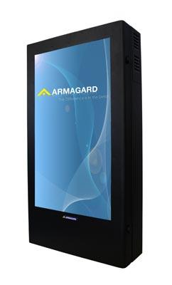 Monitory reklamowe - widok z przodu obudowa otwarta