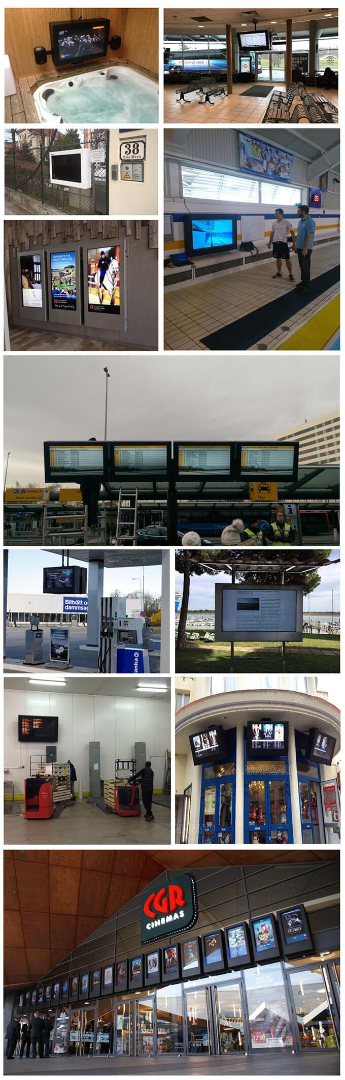 'Dostosowana obudowa LCD do stacji benzynowej.'