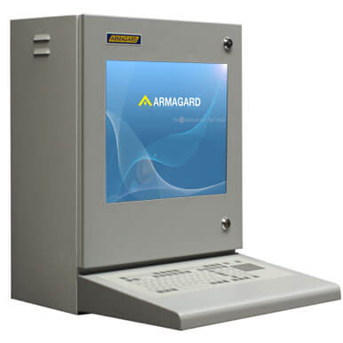 Szafa na komputer przemysłowy | Ochrona monitorów LCD i komputera typu thin-client - cieńki klient w środowiskach przemysłowych | Armagard Ltd