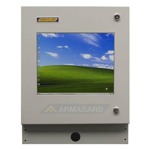 Monitor z ekranem dotykowym widok z przodu