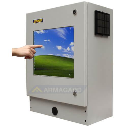Monitor z ekranem dotykowym widok z lewej strony