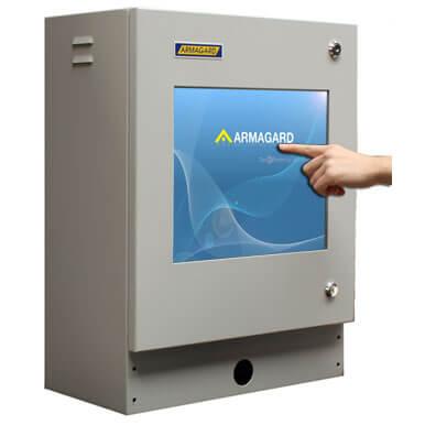 Monitor z ekranem dotykowym | Obudowa ochronna zabezpieczająca komputer z ekranem dotykowym | Armagard Ltd