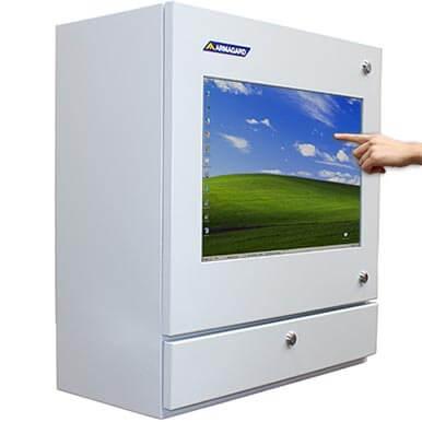Przemysłowy terminal dotykowy | Obudowa komputera z wbudowanym panoramicznym panelem dotykowym | Armagard Ltd