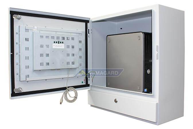 Dotykowy panel sterowania na linię produkcyjną drzwi otwarte