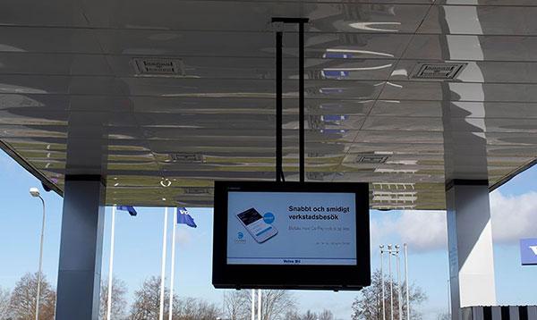 'Podwiesza obudowa LCD digital signage'