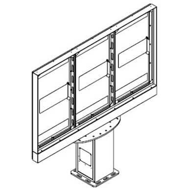 Potrójny totem do monitorów | Armagard Ltd