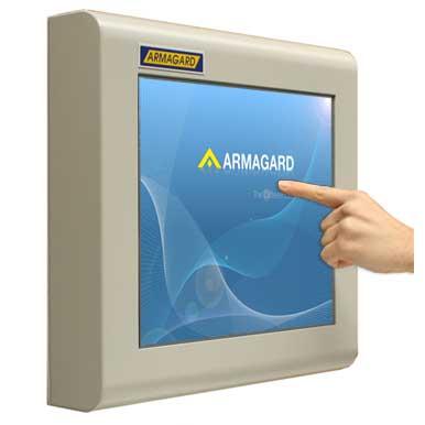 Ekran dotykowy przemysłowy | Ekran dotykowy w obudowie ze stali miękkiej | Armagard Ltd