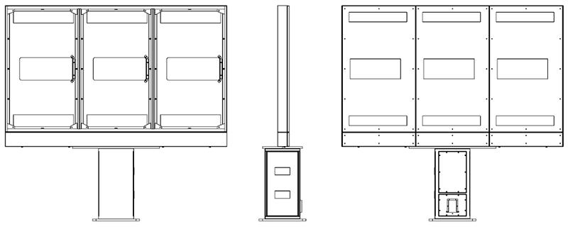 Samsung Monitor Zewnętrzny schematyczny widok jednostki