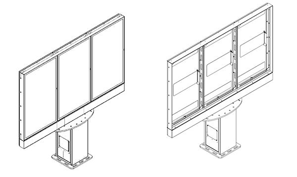 Samsung Monitor Zewnętrzny schematyczny widok z ekranem