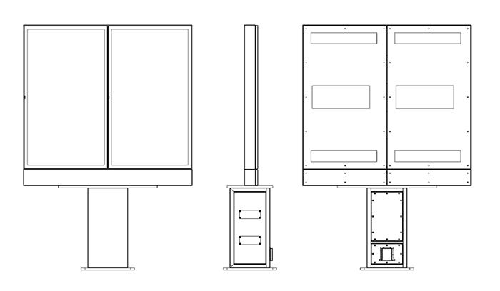 Samsung Monitor Zewnętrzny widok schematyczny z dwoma ekranami
