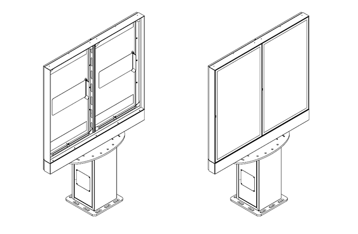Samsung monitor zewnetrzny widok schematyczny z monitorem
