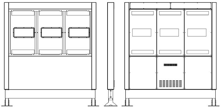 Samsung OH46F totem zewnętrzny rysunek schematyczny przodu