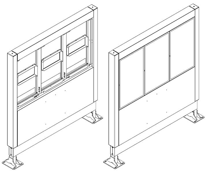 Samsung OH46F totem zewnętrzny rysunek schematyczny