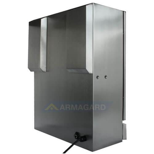 Bryzgoszczelna szafka na komputer Inox - widok z tyłu