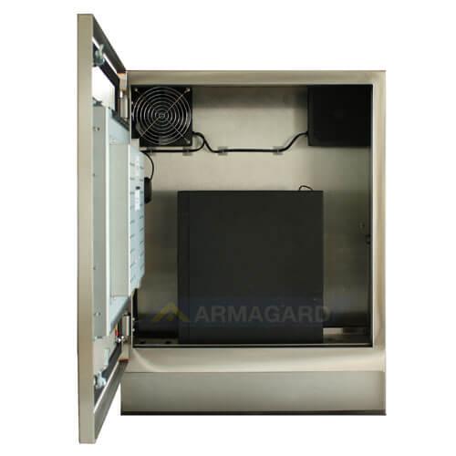Monitor dotykowy nema 4 – widok z przodu z otwartymi drzwiami