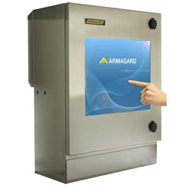 Monitor dotykowy nema 4 | Wodoszczelny komputer lub Obudowa do komputera typu Thin Client – cieńki klient z zintegrowanym monitorem dotykowym | Armagard Ltd