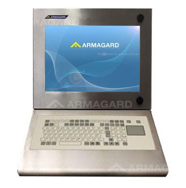Szafa na komputer ze stali nierdzewnej z klawiatura