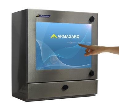 Terminal dotykowy wodoodporny | Wodoodporna obudowa monitora dotykowego, Monitor dotykowy w obudowie ze stali nierdzewnej. Armagard Ltd