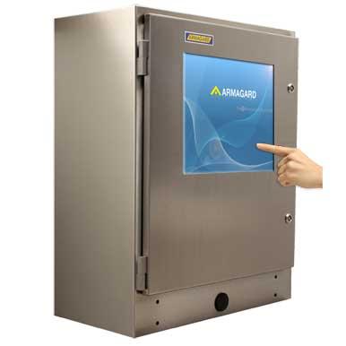 Monitor dotykowy IP65 | Wodoodporna obudowa z ekranem dotykowym | Ochrona komputera ze stali nierdzewnej z ekranem dotykowym | Armagard Ltd
