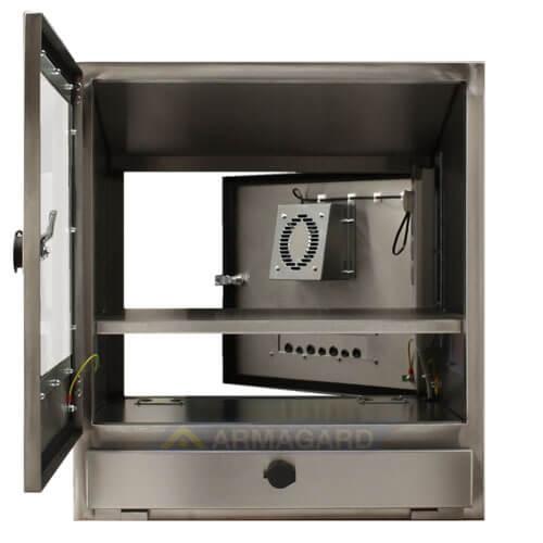 Wodoodporna obudowa komputera przednie i tylnie drzwi otwarte