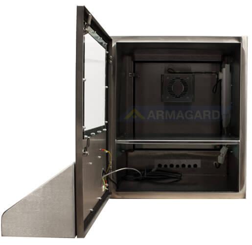 Nierdzewna obudowa komputera przednie drzwi otwarte | SENC-900