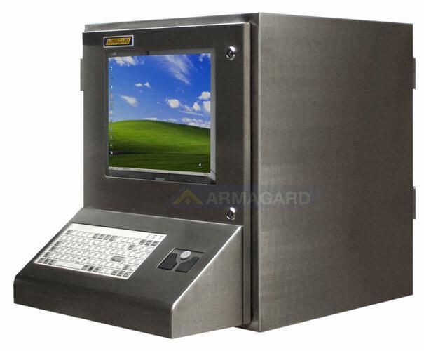 Nierdzewna obudowa komputera widok z lewej strony | SENC-900