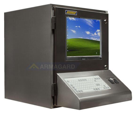 Nierdzewna obudowa komputera widok z prawej strony | SENC-900
