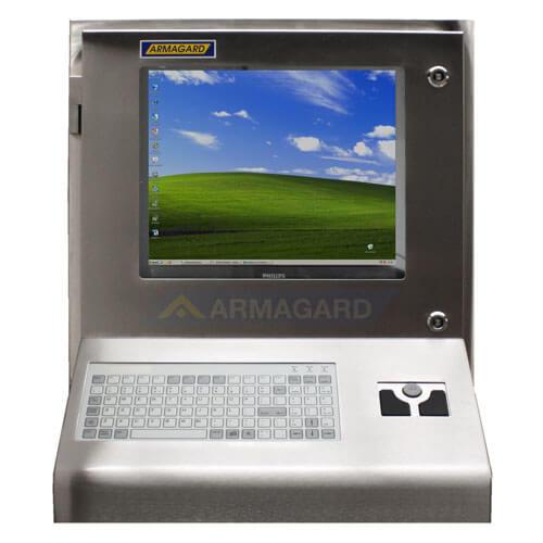 Nierdzewna obudowa komputera widok z przodu | SENC-900