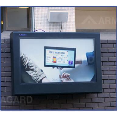 Obudowa telewizor outdoor | Pogodo -wandalo odporna obudowa | Stal miękka malowana proszkowo | Armagard Ltd