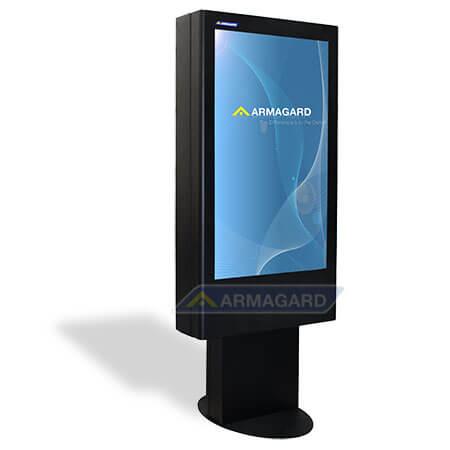 Totem LCD zewnętrzny widok z lewej strony