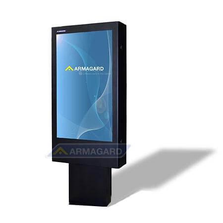 Totem LCD zewnętrzny widok z prawej strony