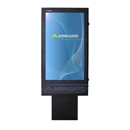 Totem LCD zewnętrzny widok z przodu z ekranem