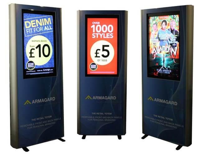 Totem reklamowy LCD strzal grupa reklamowa