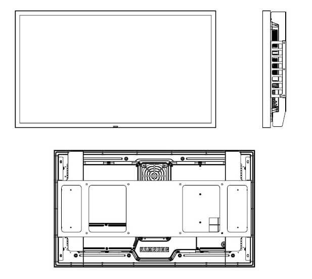Samsung oh46f schemat mantazu ekranu widok