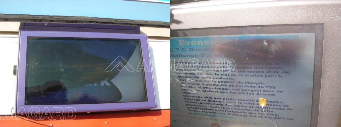 LCD enclosure installation
