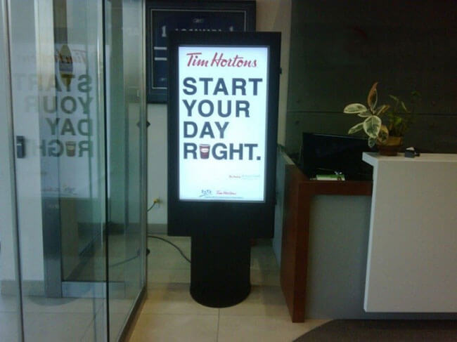 Digital signage stanowi doskonałą okazję do reklamy