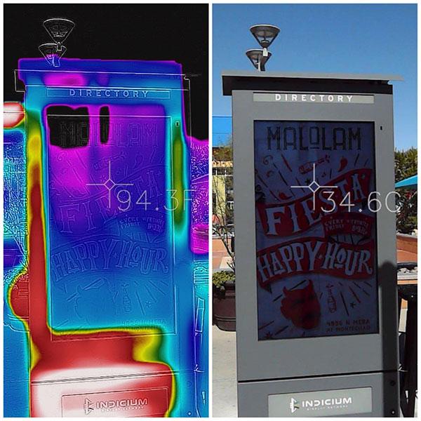 obudowy LCD ekrany w trybie chłodzenia